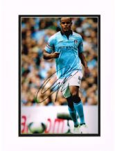 Vincent Kompany Autograph Signed Photo - Manchester City